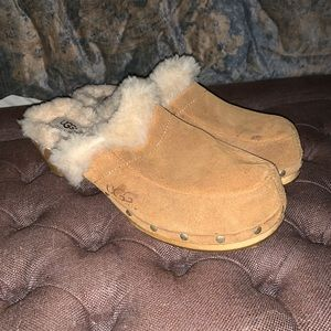 Authentic UGG fur lined studded clog